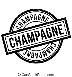 Champagne rubber stamp. Grunge design with dust scratches....