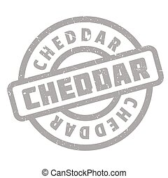 Cheddar rubber stamp. Grunge design with dust scratches....