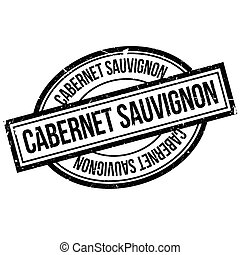 Cabernet Sauvignon rubber stamp. Grunge design with dust...
