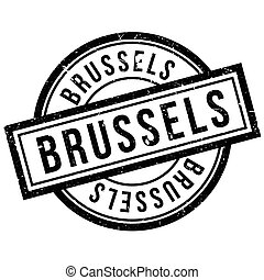 Brussels rubber stamp. Grunge design with dust scratches....