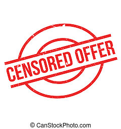 Censored Offer rubber stamp. Grunge design with dust...