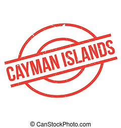 Cayman Islands rubber stamp. Grunge design with dust...