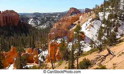 panning over the bryce canyon national park