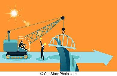 builds a bridge crane