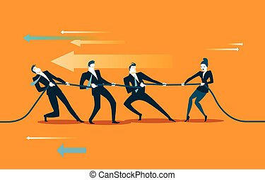 rope pulling. vector illustration