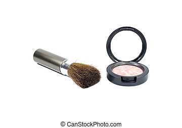 Powder makeup and brush