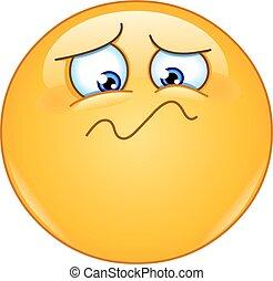 Feeling unwell emoticon - Emoticon feeling unwell, sad,...