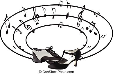 dance shoes - male and female shoe dance with