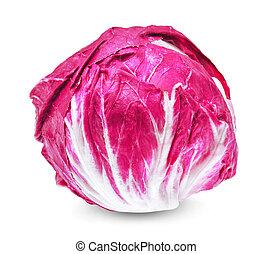 fresh radicchio (red salad) isolated on white background