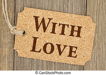 Old fashion love gift tag