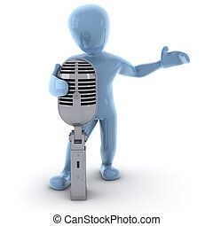 3D image, a character singing