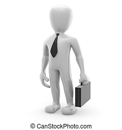 3d image, character briefcase