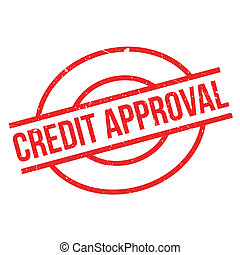 Credit Approval rubber stamp