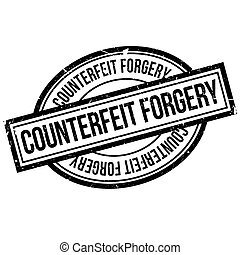Counterfeit Forgery rubber stamp. Grunge design with dust...
