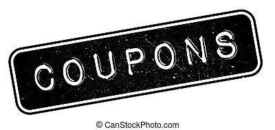 Coupons rubber stamp. Grunge design with dust scratches....