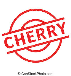 Cherry rubber stamp. Grunge design with dust scratches....