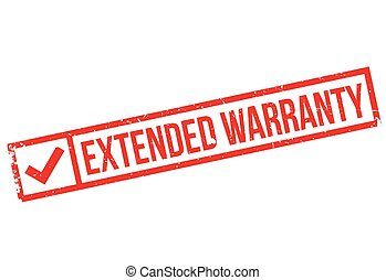 Extended warranty stamp. Grunge design with dust scratches....