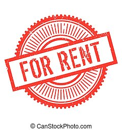 For rent stamp. Grunge design with dust scratches. Effects...