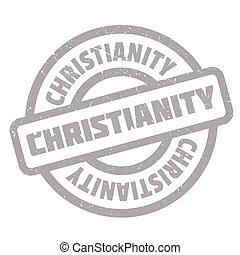 Christianity rubber stamp. Grunge design with dust...