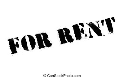 For rent stamp