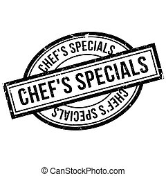 Chef'S Specials rubber stamp. Grunge design with dust...