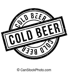 Cold Beer rubber stamp