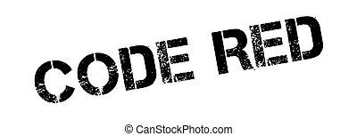 gummi, stämpel, kodex, röd