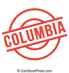 Columbia rubber stamp. Grunge design with dust scratches....