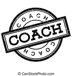 Coach rubber stamp. Grunge design with dust scratches....