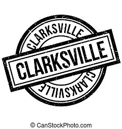 Clarksville rubber stamp. Grunge design with dust scratches....