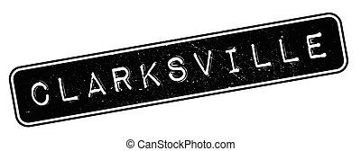 Clarksville rubber stamp. Grunge design with dust scratches....