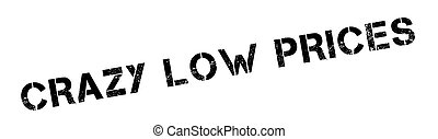 Crazy Low Prices rubber stamp. Grunge design with dust...