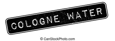 Cologne Water rubber stamp. Grunge design with dust...
