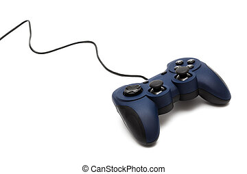 modern joystick for gaming on a white background