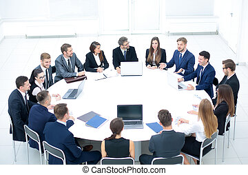 Business people in a conference room. - business people at a...