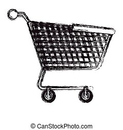 Isolated shopping cart design