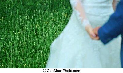 Wedding Theme Holding Hands Newlyweds - wedding theme,...