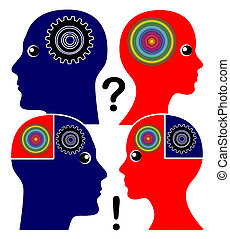 Developing Emotional Intelligence - Man and woman learn to...