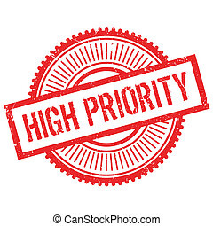 High priority stamp. Grunge design with dust scratches....