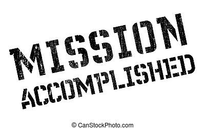 Mission accomplished stamp