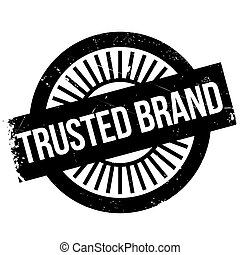 Trusted brand stamp. Grunge design with dust scratches....