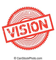 Vision stamp. Grunge design with dust scratches. Effects can...