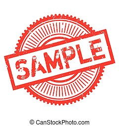 Sample stamp. Grunge design with dust scratches. Effects can...