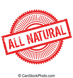 All natural stamp. Grunge design with dust scratches....