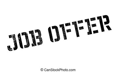 Job offer stamp. Grunge design with dust scratches. Effects...