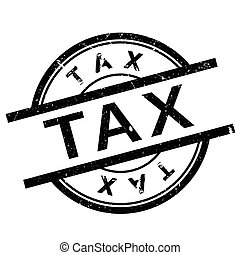 Tax stamp. Grunge design with dust scratches. Effects can be...