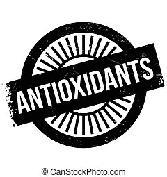 Antioxidants stamp. Grunge design with dust scratches....
