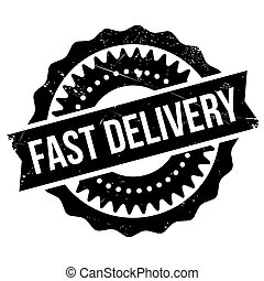 Fast delivery stamp. Grunge design with dust scratches....