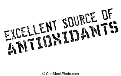Excellent source of antioxidants stamp. Grunge design with...