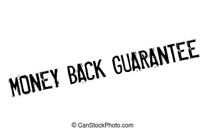 Money back guarantee stamp. Grunge design with dust...